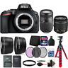 Nikon D5600 Digital SLR Camera w/ 18-55mm Lens, 70-300mm Lens and Accessory Kit