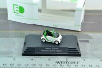 Busch Smart Fortwo Convertible w/ Electric Drive White 1:87 Scale HO