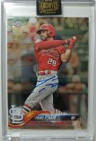 2021 Topps Archives Signature Series Tommy Pham Chrome Buyback On-Card Auto /74