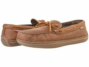 Man's Slippers L.L.Bean Hand Sewn Slippers Flannel-Lined
