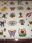 """GORGEOUS HAND MADE Needle Punch Quilt  78"""" x 94""""     #617"""