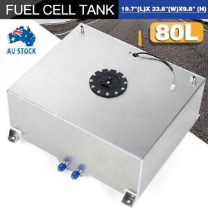 Aluminum Fuel Cell 80 Liter 21 Gallon Fuel Tank w/ Sender&Internal Foam Layer AU