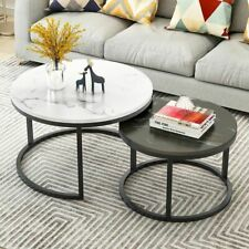 Wooden Coffee Table Metal Frame Living Room Home 2-In-1 Decoration Furniture New