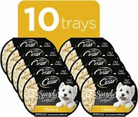 CESAR SIMPLY CRAFTED Wet Dog Food,Chicken Flavor,No Artificial Colors,(10) 1.3oz