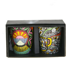 Starbucks Coffee Stories Demi Espresso Mug Set Laolu Senbanjo Jessie Kate 3 Oz
