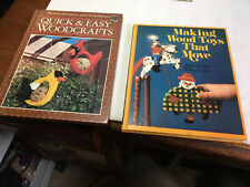Vintage Wood Craft Books Lot Of Two