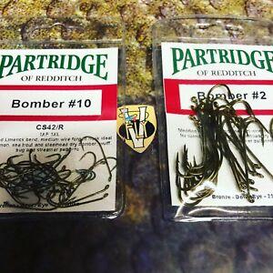 25 Partridge CS42/R Classic Salmon Single Bomber Hooks 5 Size Options
