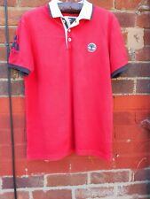 "Timberland Earthkeepers Regular Fit Polo Shirt Size Large summer 40"" chest logo"