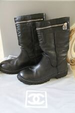Authentic Chanel Boots Black Size 37