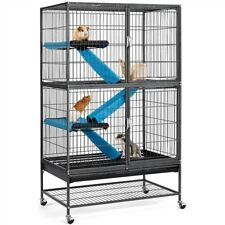 Large Rolling Metal Ferret Cage Chinchilla Guinea Pig Rat Critter Nation Black