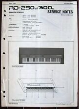 Roland RD-250s RD-300s Digital Piano Original Service Notes Manual Booklet
