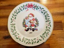 Lenox 1997 Annual Limited Edition Plate Santa and Child Christmas List Excellent