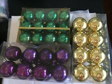 54 Mardi Gras Purple Gold Green Shatter Resistant Christmas Ornament Decoration