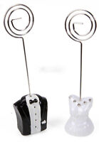 20 Wedding Table Bomboniere Name Place Card Holder Stand 10 Bride 10 Groom 10cm