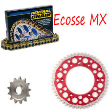 HONDA CR125 Renthal R1 H/D Gold Chain Renthal Twinring Sprocket Kit Red