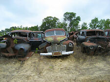 1941 Buick sedans line up in junk yard  8 x 10 Photograph
