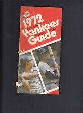 New York Yankees 1972 Vintage Press-Media Guide