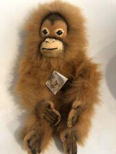 Vintage Boccetta Orangutan Rumba Plush Toy EUC Has Tags Monkey
