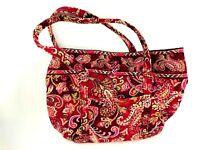 Vera Bradley Pink Swirls On The Go Shoulder Bag Purse