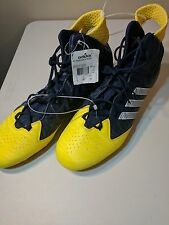 NEW Mens 18 ADIDAS NastyQuick Mid Navy Blue Gold Molded Football Cleats TD