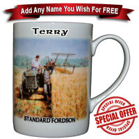 Standard Fordson Tractor Binding / Bone China Mug  - Personalise any name free