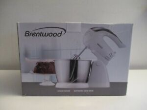 NEW Brentwood SM-1152 5-Speed Stand Mixer with Bowl White New in Box