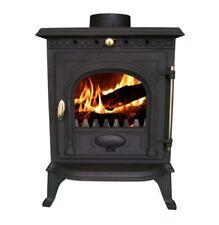 Estufas de gas, leña y pellets de color principal negro de hierro fundido