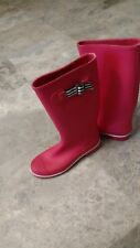J Crew Women's Size 7 Pink Rubber Rain Boots with zebra trim new with tags