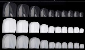 24pcs False FAKE Acrylic French Toe Nail Art Tips Set White/Clear Natural Choose