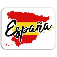 2 x 10cm Spain Map Vinyl Stickers - Flag Travel Sticker Laptop Luggage #17087