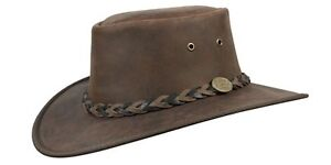 Barmah Squashy Bronco Cowhide Leather Hat
