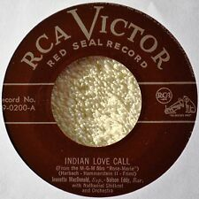 Jeanette MacDonald Nelson Eddy Indian Love Call 45 NM Red Wax When I'm Calling U
