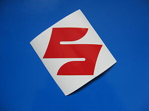 "SUZUKI ""S"" sticker/decal x2"