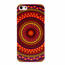 IPHONE Shell 4 Or 5 Pattern Ethnic Circle Orange (Tribal Aztec)
