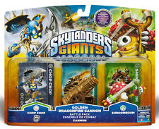 Skylanders Giants GOLDEN DRAGONFIRE CANNON Battle Pack CHOP CHOP S2, SHROOMBOOM