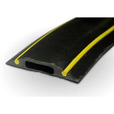 PC229 Rubber Cable Floor Cover Protector Hazard Black Yellow 10cm piece