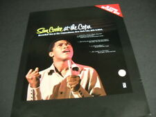 Sam Cooke Promo Poster Ad for the re-release of Live At The Copa