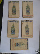 5 CARNETS DEBIT DE BOISSON CAFETIER : UN PREMIER / PASTIS ? ANNEES 30
