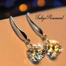 Gorgeous Elegant Swarovski Crystal Rhinestone Drop Dangle Earrings on 925 Hooks