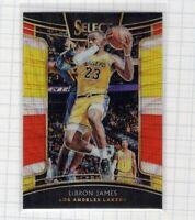 2018-19 LeBron James Panini Select Concourse Tri Color Prizm #11 Lakers Card