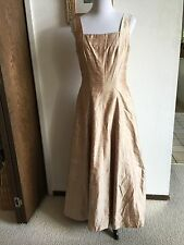 Watters And Watters Gold Silk Sleeveless Formal Dress Nordstrom's Size 10 Or 12