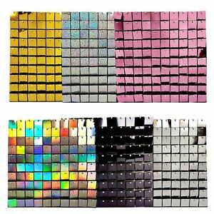 Square Sequin Wall Panels - 30cm x 30cm Flower Quality