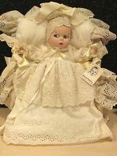 Vintage Atlanta Novelty Gerber Baby Doll w/Basket w/Christening Outfit Porcelain