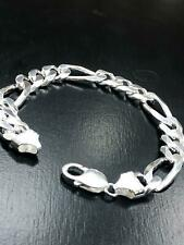 """CURB FIGARO CHAIN 925 SOLID Sterling Silver HEAVY Necklace 8.5"""" 10MM BRAND NEW"""
