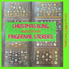 Christmas Bling ~ Gold or Silver ~ Nail Art Decal Stickers ~ FAST Sydney Post