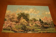 vintage old 1930s Spring Blossoms Perfect Picture Puzzles jig saw type