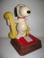 Vintage 1976 Snoopy and Woodstock Rotary Dial Phone Telephone VERY RARE
