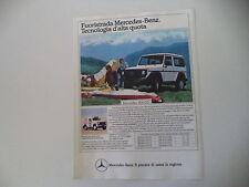 advertising Pubblicità 1984 MERCEDES BENZ 300 GD