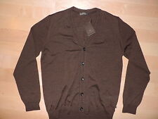 HUGO BOSS Selection LIVINGSTONE Virgin Wool Brown Cardigan Sweater 52 L