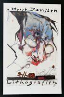 """HORST JANSSEN- HANDSIGNIERT - Austellungsplakat - 1988  - """"Lithographien"""""""